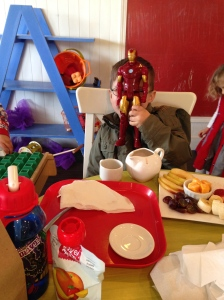 Out for a Crumsby's date with Taran and Sascha today. And Iron Man.